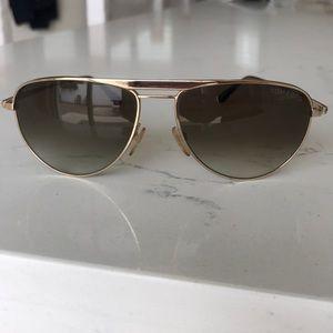 Tom Ford gold aviator sunglasses
